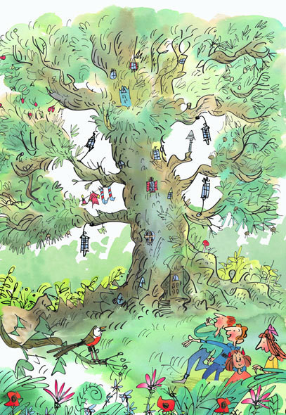 Page from Enid Blyton's The enchanted forest.