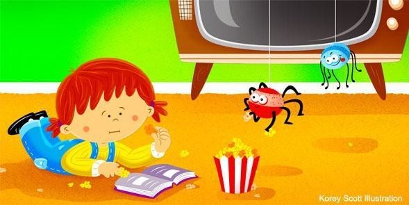 Spiders Love Popcorn - from Pat Nicholson's Children's Book - I Don't Like Spiders