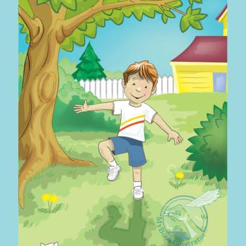 Outdoor Illustration of Boy