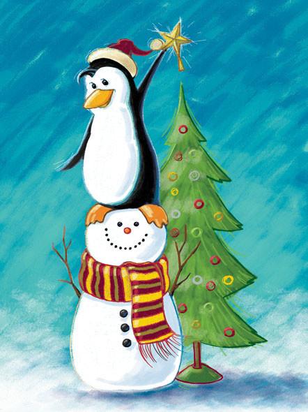 Penguin and Snowman friends