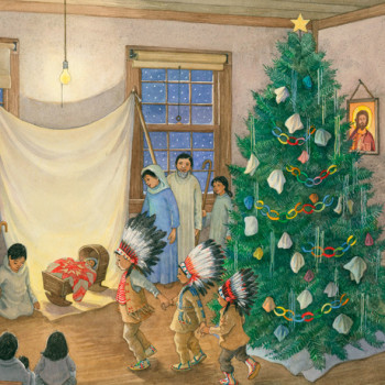 from 'The Christmas Coat' by Virginia Driving Hawk