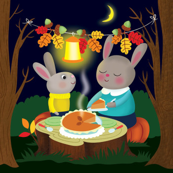 Rabbit's Thanksgiving dinner