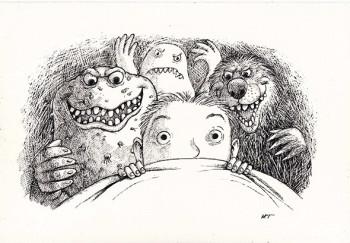 Boy and nightmares