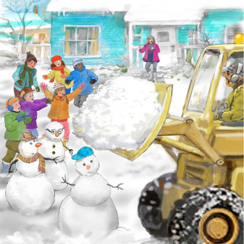 Snowmen vs Snowplow