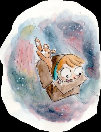 The box, watercolour short story