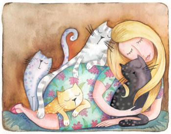 Mujer de los gatos - Woman of cats