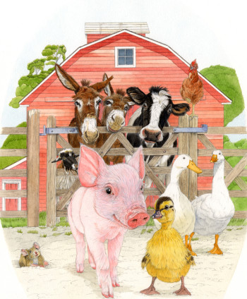 Piglet & Duckling  - picture book project
