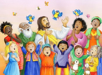 Jesus and the choir