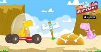 Dinosaur Dig - Vector Art - Games, apps