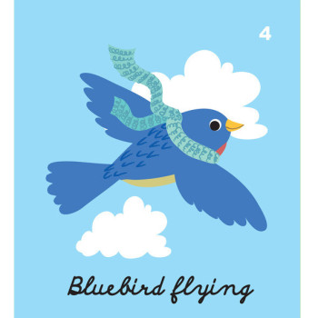 Bluebird flying