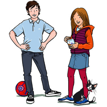Emma and Cian, characters from Abenteurland, published by Educational Co. Ireland