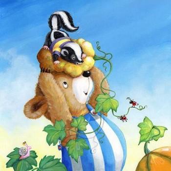 Bear picks a Pumpkin. Zonderkidz