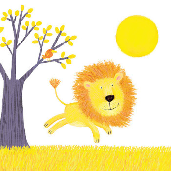 Happy lion