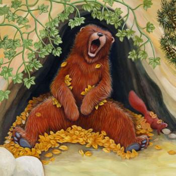 bear yawning