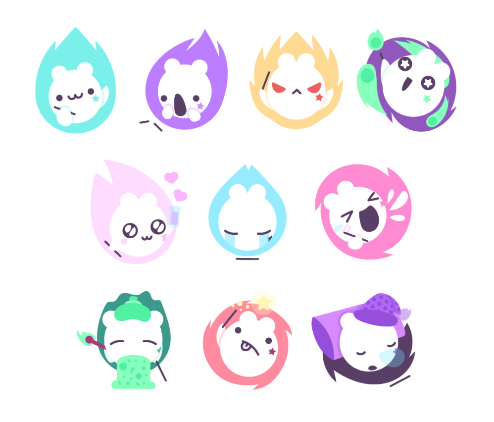Mitsuko stickers