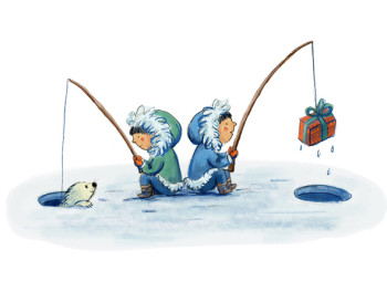 Fishing for presents