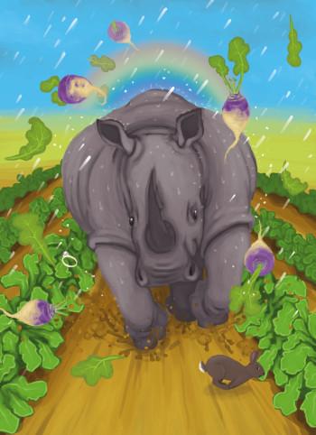 A rampaging Rhino