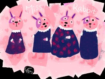 Miss Rabbit Character development