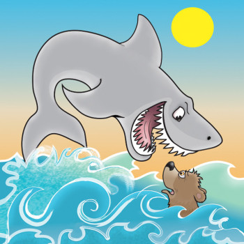 Shark Eating Bear
