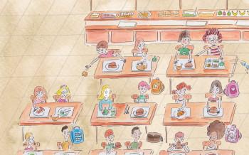 Cafeteria scene