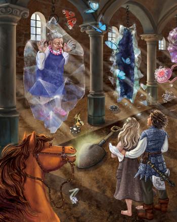 Interior illustration for Crystal Quest