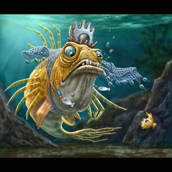 Fish queen scolding