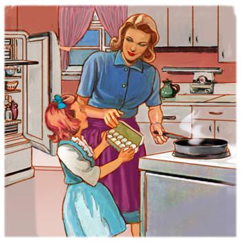 Hepling mommy
