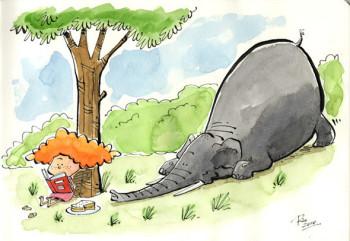 The sneaky elephant