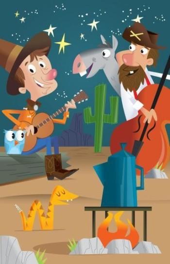 Cowboys singing