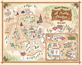 """""""A Country Christmas"""" Map of Events"""