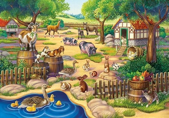 Animals in a Petting Zoo