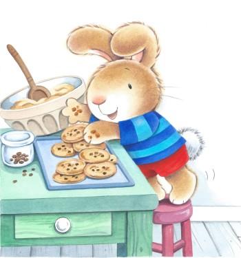 Naughty Pants arranging cookies