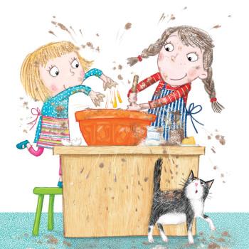 Mimi & Flo make a cake!
