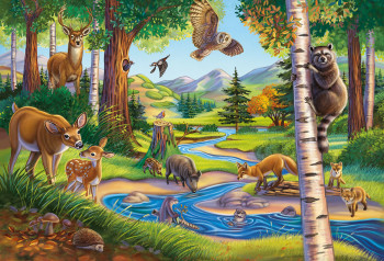 Puzzle - Animals in the Forest