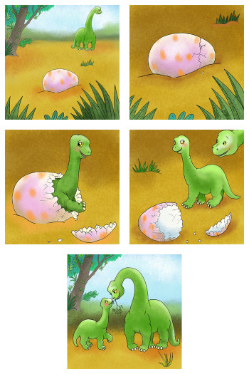 A Brachiosaurus hatching