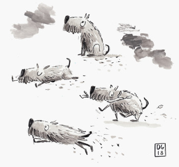 Dudley the Dog - Character Studies
