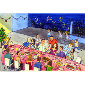 Christmas dinner in Runion Island