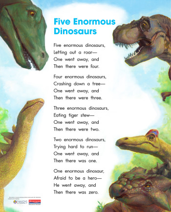 5 Enormous Dinosaurs poster
