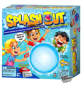 """""""Splash Out"""" toy box packaging"""