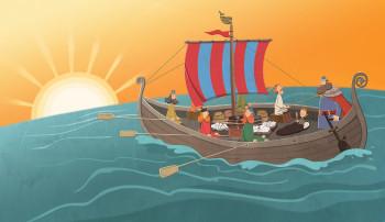 Viking Boat Sunset