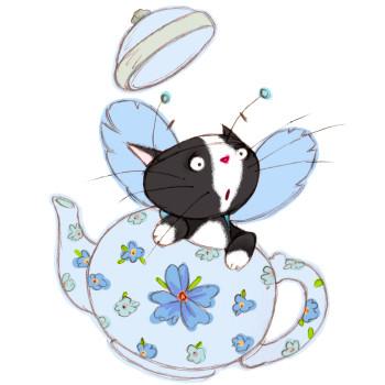 Cat in a teapot fairy
