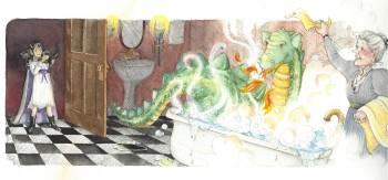 Dragon in Tub
