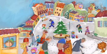 Christmas story  - The village