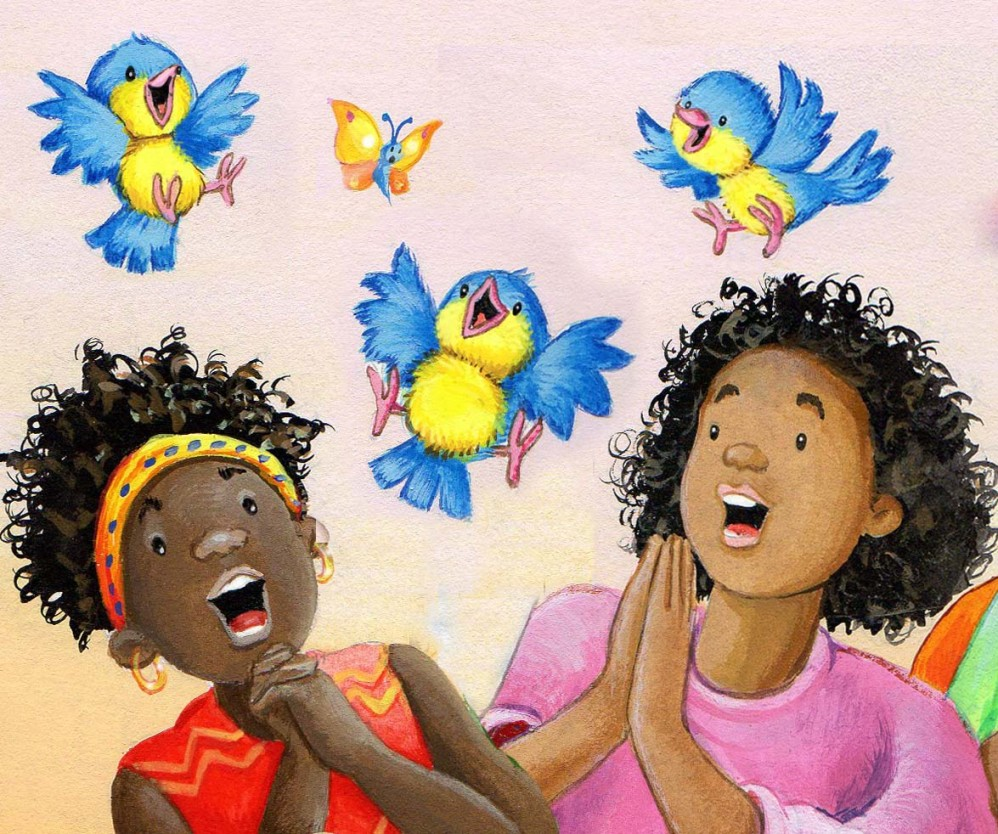 African ladies singing. copenhagen Publishing House