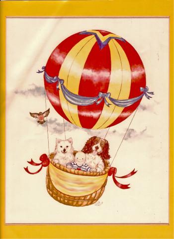 Nursery Card Hot Air Balloon