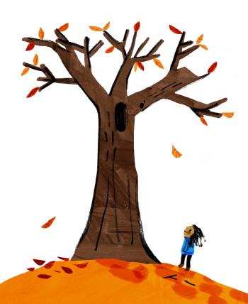 Inktober October Tree