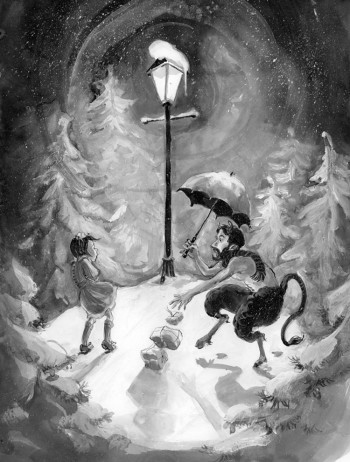 Lucy meets Mr. Tumnus — The Lion, the Witch and the Wardrobe