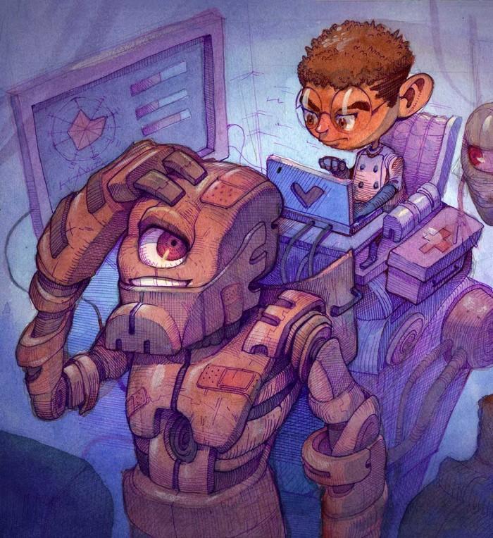 Robot Repair Shop