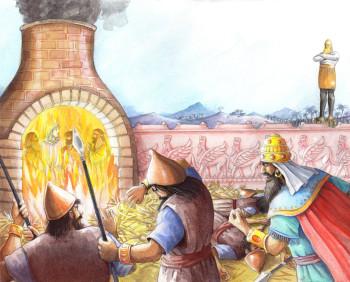 Daniel and King Nebuchadnezzar. Children's Bible in 100 stories. Copenhagen Publishing House