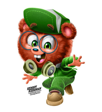 Smart Bear Sun Maid brand mascot character